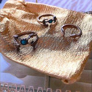 🎉 HOST PICK 🎉 🌙 Set of 3 Rings - Boho Chic 💘 ✨